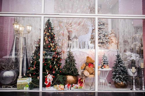 Christmas store front